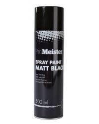 PROMEISTER SPRAY PAINT MATT BLACK 500ML